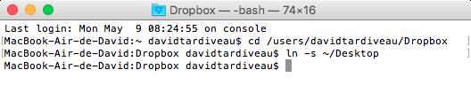 Terminal DropBox Synchro Symlink